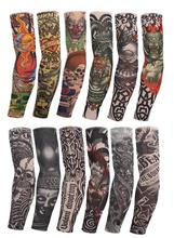 C&Fung high quality Temporary Fake Tattoo Arm Sleeves 12pc Hot Sale Style Kit Colletion Halloween body art gloves arm warmers(China)