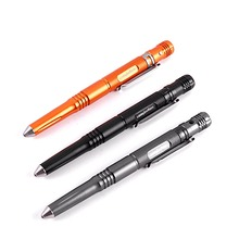 High Quality Tactical Pen Self Defense Pen With LED light Knife Whistle Outdoor EDC Tool Aviation Aluminum defence  FG