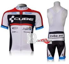 3D Silicone! CUBE 2012 bib short sleeve cycling wear clothes short sleeve bicycle/bike/riding jerseys+bib pants