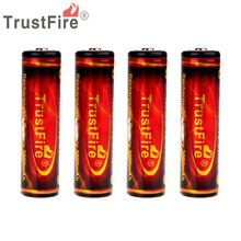4PCS/Lot TrustFire Genuine Full Capacity 3000mAh 18650 3.7V Li-ion Rechargeable Battery with Protected PCB