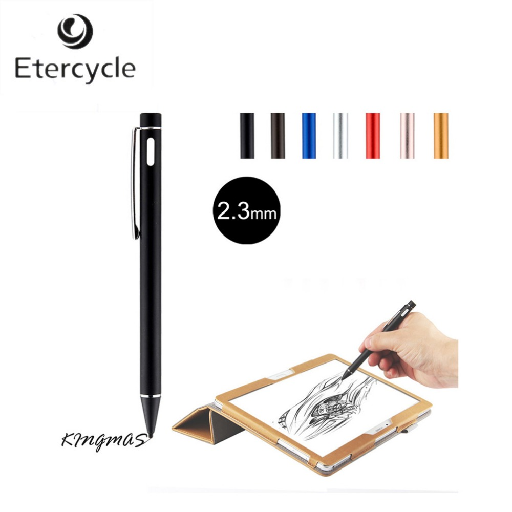 High-precision 2.3mm Active Chargeable Capacitive Touch Pen Stylus for iOS Android Microsoft Tablets PAD touch screen devices<br><br>Aliexpress