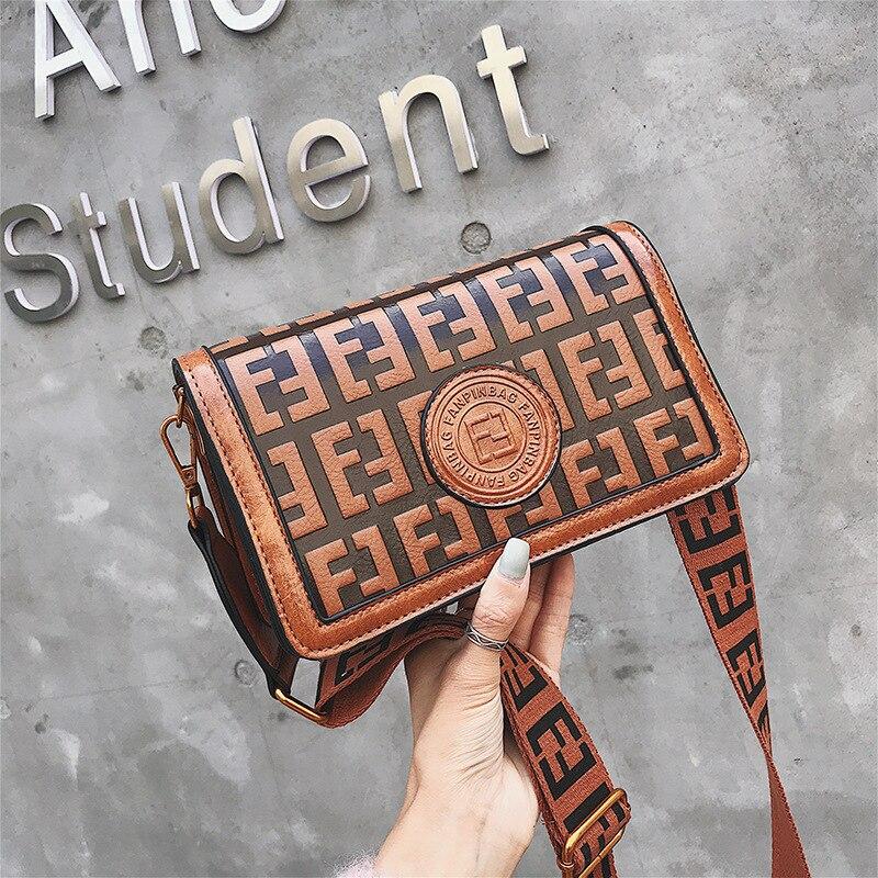 2019 Of The Small Square Fashion Women's vintage Shoulder Bag Shoulder Bag Messenger Bag Mobile Phone Bag Brand original design 27 Online shopping Bangladesh