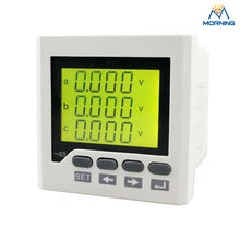 3HD6Y frame size 96*96 industrial usage lcd harmonic measure rs485 commnication three phase digital low price energy meter