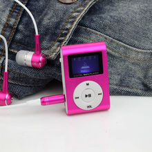 Portable MP3 LCD Screen Metal Mini Clip MP3 Player With Micro TF/SD Card Slot sport mp3 Music players walkman (Without Headset )(China)