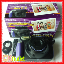 Fujifilm Instax 210 Wide + Free Gift for Polaroid Instant Photo Camera Instax Film in Black Color