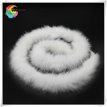 48g 2meters/pc fluffy feather boa super quality dyed white turkey feather boa for party/carnival costumes/party boa shawl(China)