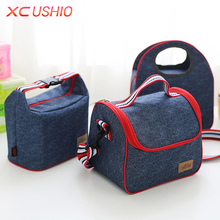 Portable Oxford Travel Picnic Storage Bag Outdoor Insulated Thermal Lunch Bag Food Organizer Tote Shoulder Bag(China)