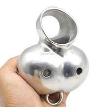 Buy New Stainless Steel Male Chastity Device Cage Ball Enhancer Protector Sex Toys Load card Ring S790