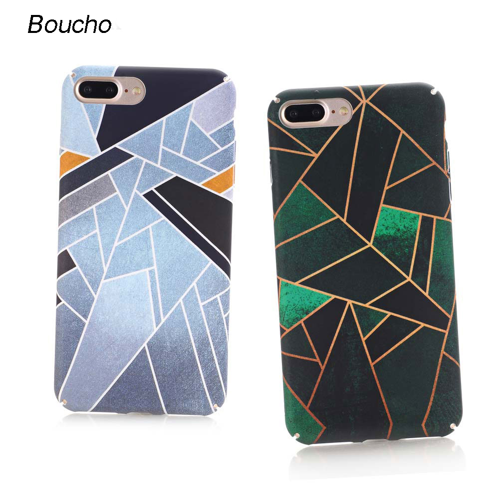 Boucho Colorful Geometric Graphic Pattern Case iPhone 8/8plus 7/7plus Phone Cases iPhone 6 6s Plus Back Cover Newest