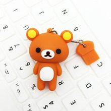 pen drive personalizado flash drive USB 128GB usb rilakkuma pen usb stick 128gb Rilakkuma Bear USB3.0 2.0 64GB 32GB 16GB 8GB 4GB(China)