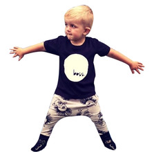 toddler boys clothing 2016 Letter Print T-shirt Tops+Pants Outfits kids hip hop clothing kids fashion cheap infant clothing good
