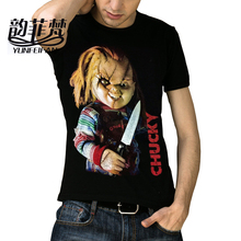 Chucky Devil Baby Hip Hop T Shirt Men 3D Print Fashion High Quality Mens Tshirt Cotton Gift T-shirt for Male Short Sleeves(China)