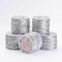 1mm in diameter, about 45yard/roll Elastic Wire Cord for Jewelry Making DIY Findings Supplies, Silver