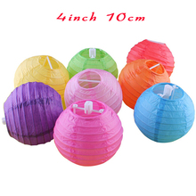 30 pcs 4 Inch Mini Paper Lantern For Wedding Decoration White Paper Ball Wedding Birthday Decor Blue Pink Yellow Red Lanterns