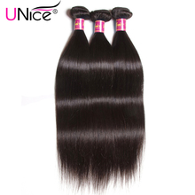 UNICE HAIR Brazilian Straight Hair 100% Human Hair Weave Bundles 8-30inch Non Remy Hair Weaving 1 Piece Can Order 3 or 4 Bundles