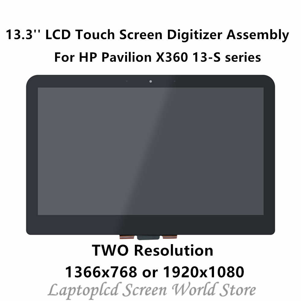 FTDLCD 13.3'' LCD Touch Screen Digitizer Assembly LP133WH2-SPB3 For HP Pavilion X360 13-S series 13-S1000 13-S150SA S128NR