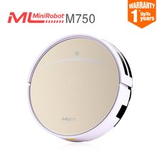 2017 Robot Vacuum Cleaner for Home wireless Sweeping Dust Sterilize Gyro navigation Smart Planned Mop Roller Brush Minibot M750(China)