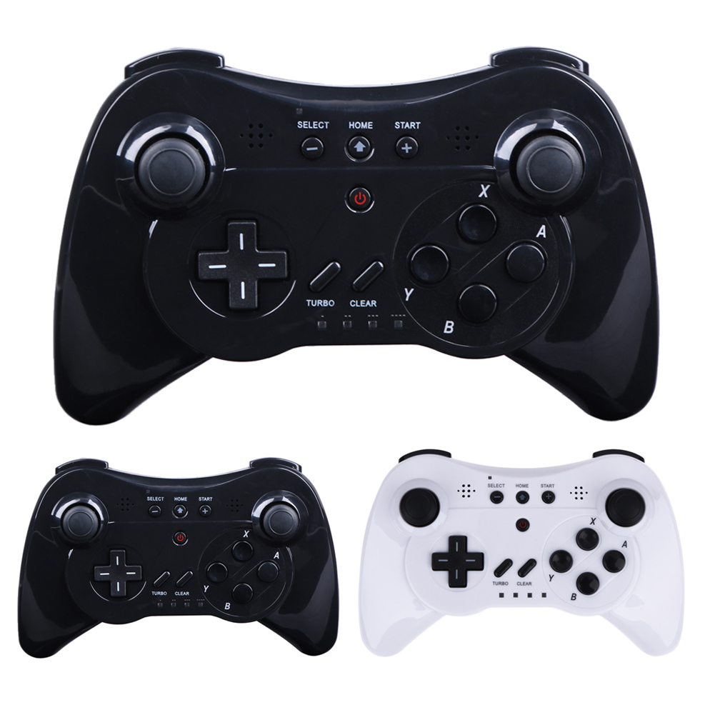 3 In 1 Wireless Gamepad Controller Joystick PC Computer Video Games Handle Game Controller Black White For Nintendo Wii U Pro(China)