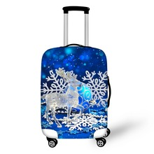FORUDESIGNS Novel Portable Travel Accessories Elastic Luggage Covers for 18-28 inch Suitcase Protective Cover Christmas present(China)