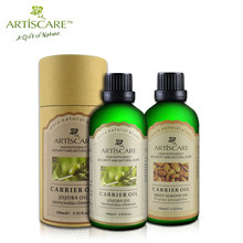ARTISCARE Jojoba base oil + Sweet Almond base oil Skin Care Moisturizing fade wrinkles Anti Chapping Hair care SPA massage oil(China)