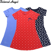 2017 Summer Short Sleeves Girls Vintage Dresses Child Princess Clothing School Kids Clothes Baby Costumes Teens Dress Party Wear(China)