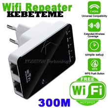 KEBETEME 802.11b/g/n 300Mbps Wireless-N AP Wifi Repeater Expander Wi Fi Wps Encryption Router LAN adapter(China)