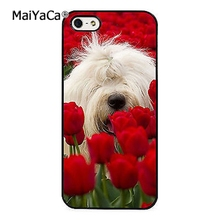 MaiYaCa Old English Sheepdog Roses Cute Soft Rubber cell phone Case Cover For iPhone 6 6S phone cover shell(China)