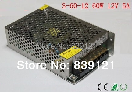 Free ship 60W 12V 5A Switching Power Supply With Current Control Charger LED<br><br>Aliexpress