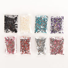 1000pcs/bag 4mm Rhinestones Crystal Clear AB Non Hotfix Flatback Nail Rhinestoens For Nails 3D Nail Art Decoration Gems(China)