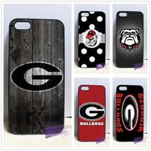Georgia Bulldogs Wood fashion cell phone case cover for iphone iphone 4 4s 5 5s 5c SE 6 6s plus 7 plus #X336