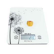 5kg 1g LCD Digital Kitchen Scale Toughened Glass Household Food Scales Strain Gauge Sensor Cooking Tools Diet Weight Balance