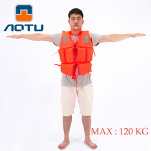 Professional Swimwear Working Life Jacket Foam Vest Survival Suit with Whistle for Outdoor Sport Swimming Drifting Fishing Adult