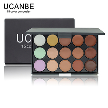 UCANBE Brand 1 PCS Professional 15 Color Camouflage Facial Concealer Palettes Neutral Contour Cream Makeup set Cosmetic(China)