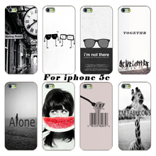 Latest Fashion Phone Shell Case For The Black And White Glasses Giraffe Watermelon For Apple iphone 5c case