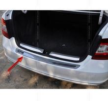 FIT FOR 2012 2013 2014 2015 Skoda Rapid REAR BUMPER PROTECTOR STEP PANEL BOOT COVER SILL PLATE TRUNK TRIM ACCESSORIES