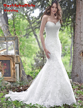 BacklakeGirls Real Fancy Vintage Wedding Dress 2017 Sweetheart Neck Lace Up Back Mermaid Bride Dresses