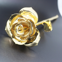 REAL ROSE -24k Gold Plated Gold Rose Flower Valentine's Day Gift Gold Flower DIPPED WITH 24k GOLD LUXURY GIFT