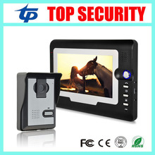 Cheap price good quality 7 inch color screen video door phone door intercom wired door bell access control system for office