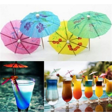 40Pcs Paper Cocktail Parasols Umbrellas Party Wedding Ornaments Luau Drink Stick Holidays Luau Sticks Decoration Supplies