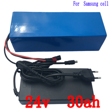 Motor scooter Battery 24v 30ah 500w ebike Battery 24v With 29.4v 2a Charger,bms Lithium Electric Bike Battery 24v Free Shipping(China)