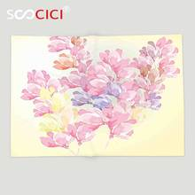 Custom Soft Fleece Throw Blanket Floral Spring Bouquet Botanical Buds Petals Nature Essence Fragrance Retro Picture Baby Pink