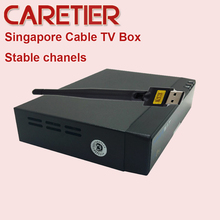 5PCS FREE SAT DVB C/T2 Cable starhub box V9 Pro Upgrade for V8 golden support WIFI Youtube singapore cable tv box(China)