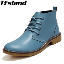 Buy Tfsland 2018 Women Lace Boots Spring Classic Genuine Leather Shoes Lady High Top Flat Walking Shoes Motorcycle Boots Sneakers for $24.97 in AliExpress store