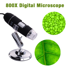 8 LED 800X USB Digital Microscope Endoscope Magnifier With Adjustable Stand TE071