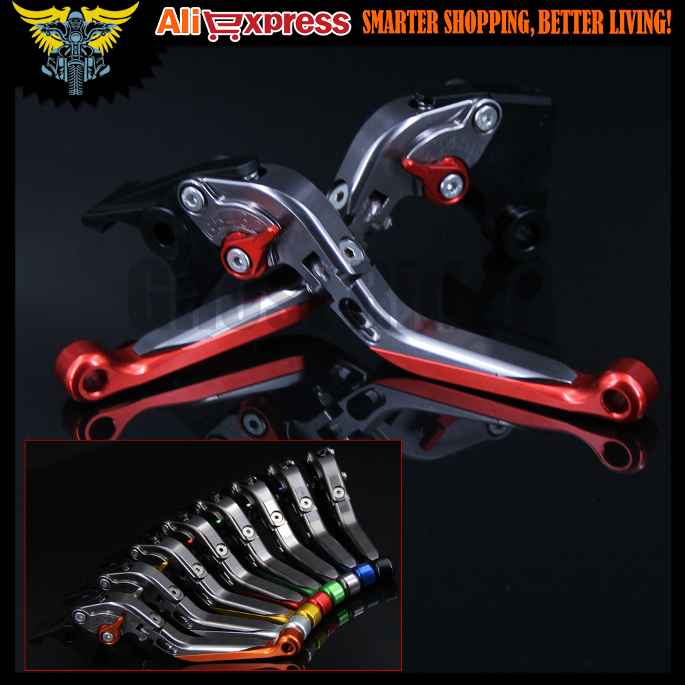 8 Colors CNC Adjustable Folding Extendable Motorbike Motorcycle Red Brake Clutch Levers For Ducati Scrambler 2015 2016<br>