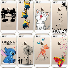 Buy iPhone 5 5S SE Case Cute Cartoon Soft TPU Silicone Case Apple iPhone 5 S Phone Back Cover Transparent Fundas Couqe for $1.41 in AliExpress store