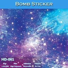 HD-061 CARLIKE Hot Sale Car Bomb Sticker Vehicle Wrap PVC Material(China)