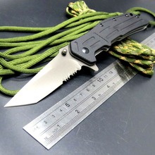 Hot Folding Knives 1985ST 8Cr13Mov Steel Serrated Blade G10 Handle 3820 Survival Knife Camping Hunting Tools EDC Tool