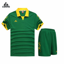 Survetement training football 2017 kids men football jerseys uniforms breathable short sleeve kits soccer jerseys set blank suit(China)