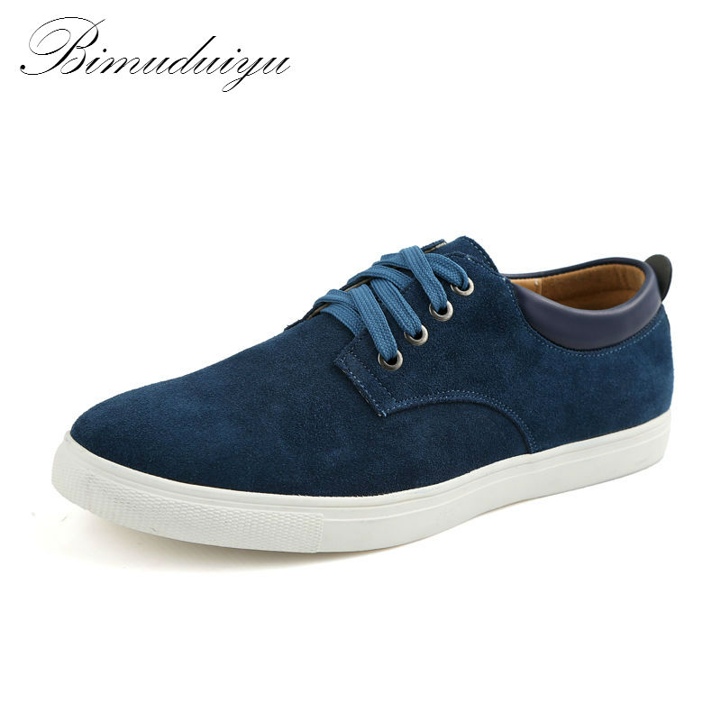 BIMUDUIYU Spring Autumn Winter  Quality Frosted Suede Mens flat Casual Shoes Leisure Lightweight  Daily Walking Driving Shoes<br>